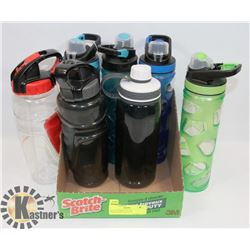 FLAT OF EDDIE BAUER GYM-SCHOOL BOTTLES