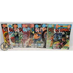 10 COLLECTOR WAR GI COMBAT COMICS