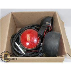 SET OF TOWING LIGHTS AND CABLES