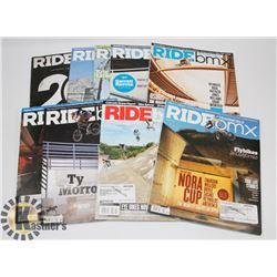 FLAT OF BMX MAGAZINES