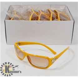 CASE OF YELLOW DESIGNER SUNGLASSES