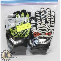 8PK YOUTH/ADULT HALLOWEEN GLOVES.