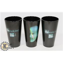 "SET OF 3 ""BREAKING BAD"" COLLECTIBLE"