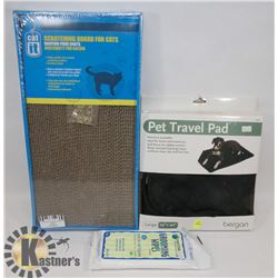 BUNDLE WITH LARGE PET TRAVEL PAD, GROOMING