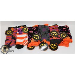 BUNDLE OF 12 PAIRS OF WOMENS HALLOWEEN SOCKS