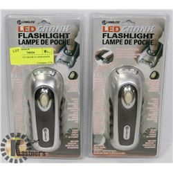 PAIR OF LED CRANK FLASHLIGHTS