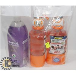 BAG OF MULTI PURPOSE CLEANER AND KIDS MOUTH WASH