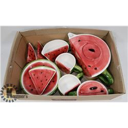 KIDS WATERMELON SHAPED TEA SET WITH