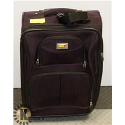 PURPLE CARRYON LUGGAGE WITH EXPANDABLE HANDLE