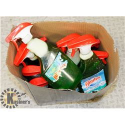 BOX OF ASSORTED WINDEX CLEANERS