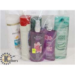 BAG OF SHAMPOO, BODY SPRAY AND MORE