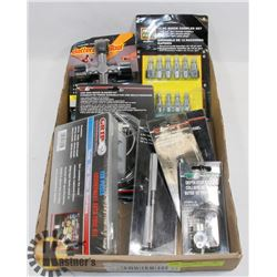 LOT OF NEW AUTOMOTIVE TOOLS & ACCESSORIES