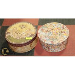 PAIR OF LARGE HAT BOXES