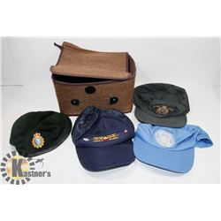 4 HATS-RCMP, UN, ARMY, AIR FORCE