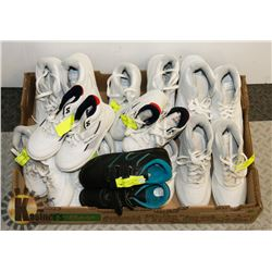 FLAT OF ASSORTED SIZES AND STYLES OF KIDS SHOES
