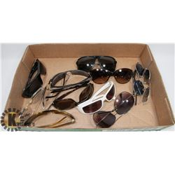 LOT OF 12 SUNGLASSES INCLUDING DOLCE AND GABANNA