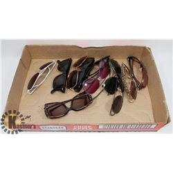 LOT OF 12 SUNGLASSES INCLUDING OAKLEY