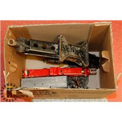 BOX OF CAR JACKS, CHAIN, POWER INVERTOR