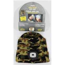 NEW ULTRA BRIGHT LED HEADLIGHT TOQUE (CAMO)