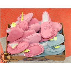 FLAT OF MOCCASIN STYLE KIDS SLIPPERS