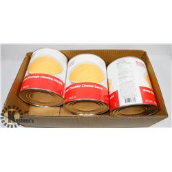 BOX OF COMMERCIAL CHEDDAR CHEESE SAUCE