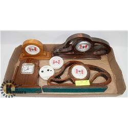 FLAT OF 6 WORKING CLOCKS- NO BATTERIES