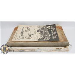 1930'S CASHBOOK LEDGER & 1940'S MAGAZINES