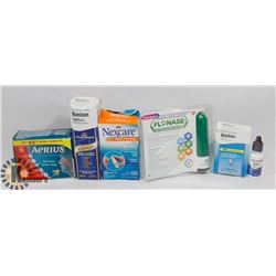 BAG OF AERIUS , BOSTON CONTACT CLEANER, AND