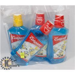 BAG OF COLGATE KIDS MOUTH WASH