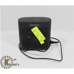 BOSE BLUETOOTH SPEAKER AND CHARGER.