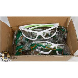 5 NEW PAIR SAFETY GLASSES / CLEAR