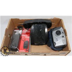 BOX VINTAGE CAMERA, LAPTOP LOCK, RETRO IPHONE