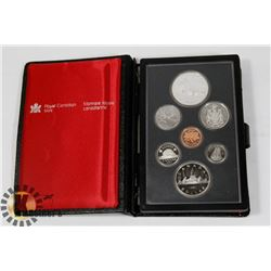 CANADIAN 1981 PROOF SET IN LEATHER CASE