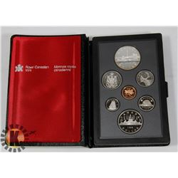 CANADIAN 1984 PROOF SET IN LEATHER CASE