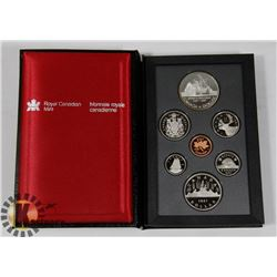 CANADIAN 1987 PROOF SET IN LEATHER CASE