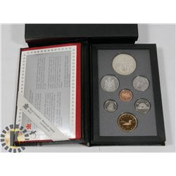 CANADIAN 1990 PROOF SET IN LEATHER CASE WITH