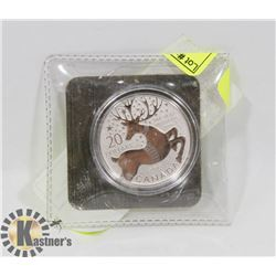 """2012 $20 SILVER CANADIAN COIN """"REINDEER"""""""