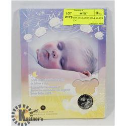 2006 BABYS LULLABIES CD & SILVER COIN, RCM