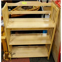 THREE TIER WOODEN SHELVING UNIT