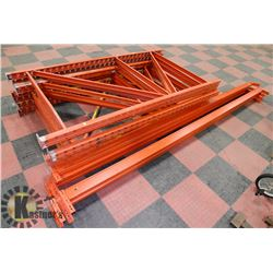 LARGE SECTION OF STEEL PALLET RACKING