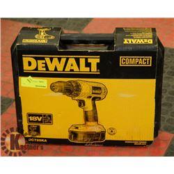 NEW DEWALT COMPACT 18V CORDLESS DRILL/ DRIVER