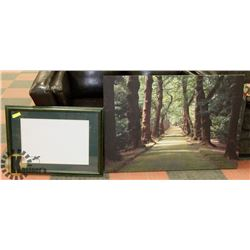 """FOREST SCENE STRETCH CANVAS ART (46"""" X 32"""") SOLD"""