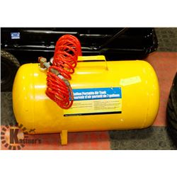 POWER FIST 7 GALLON PORTABLE AIR TANK WITH TIRE