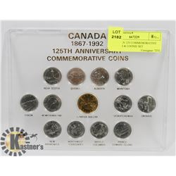 CANADIAN 125 COMMEMORATIVE QUARTER & LOONIE SET