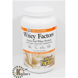 WHEY FACTORS GRASS FED WHEY PROTEIN, GLUTEN FREE,