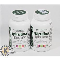 TWO PRAIRIE NATURALS SPIRULINA SPIRULINE 100%