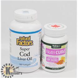 NATURAL FACTORS SUPER COD LIVER OIL 180 SOFTGELS