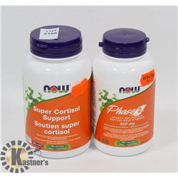 NOW SUPER CORTISOL SUPPORT 90 CAPSULES EXP JAN/20