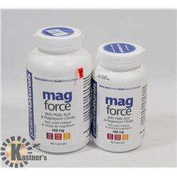 TWO PRAIRIE NATURALS MAG FORCE WITH MALIC ACID AND