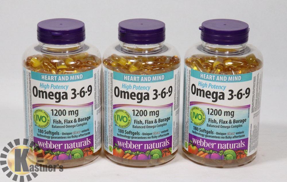 Webber Naturals Omega 3 6 9